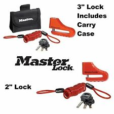 "MasterLock Disc Brake Lock 2"" 3"" Security Anti Theft Cruiser Harley Davidson"