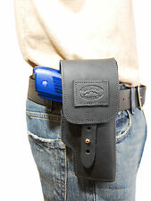 New Barsony Black Leather Flap Gun Holster Astra Beretta Comp Sub-Comp 9mm 40 45