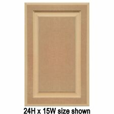 """Unfinished MDF Cabinet Doors, Square with Raised Panel by Kendor (up to 24"""" H)"""