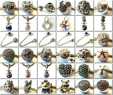 925 Sterling Silver Solid HOT Popular Series Bead Fit European Charm Bracelet A