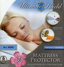 Bed Bug/Allergy Relief Waterproof Mattress Cover/Protector Cotton Top All Sizes