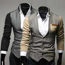 Cheap Fashion Men's Stylish Slim Fit Coat Stand Collar Outwear Jacket Tops XS~L