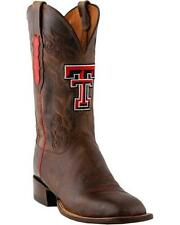 Lucchese CC1508.W8 Mens Tan Brown Madras Goat Texas Tech Cowboy Boots