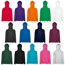 Womens Fruit Of The Loom Drawstring Front Pocket Hooded Sweatshirt Top Size 8-18