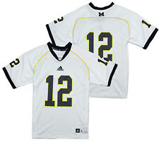 Adidas NCAA College Youth Boys Michigan Wolverines #12 Replica Jersey, White