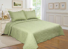 7-All For you 3 pc reversible quilt set, bedspread,coverlet-4 SIZES-15 Colors