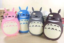 Silicone 3D Cartoon Phone Case My Neighbor Totoro For iphone 4/4s,5/5s,6/6plus
