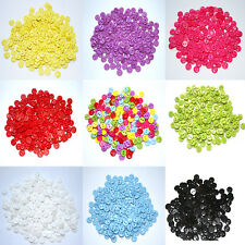 100 x 9mm Mixed Buttons Small Round Two Hole Acrylic Buttons Sewing Scrapbook