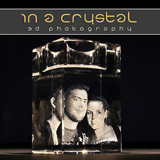 3D CRYSTAL PHOTO          UNIQUE CANDLE HOLDER           CUSTOMISED GIFTS !!