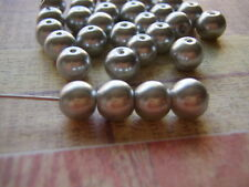 Silver  Pearl Beads Round Crystal See Size Selection For Quantity Detail