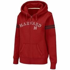 Harvard Crimson Women's Touchdown Full Zip Hoodie - Crimson