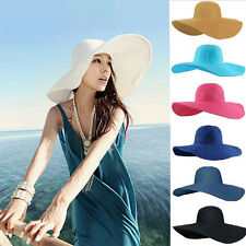 2015 Summer Women Beach Hat Foldable Wide Large Brim Floppy Sun Straw Hat Cap