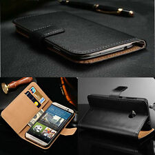 For HTC Luxury Genuine Real Magnetic Flip Leather Case Wallet Protective Cover