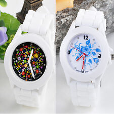 Fashion Silicone Rubber Jelly Gel Quartz Wrist Watch Analog Sports Women Watches