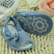 Toddlers Baby Girls Bowknot Summer Cloth Sandals Shoes Soft Sole Crib Shoes