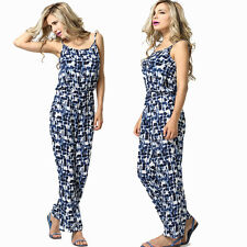 Womens Ladies Summer Casual Long Pants Trousers Jumpsuit Playsuit Romper Overall
