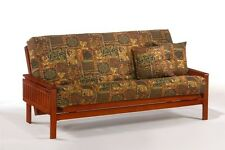 Futon Frame- Solid Wood WINSTON Futon Sofa Bed Frame- FULL or QUEEN size