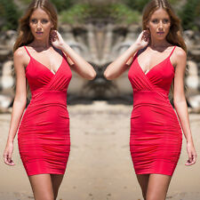 Sexy Women Summer Bandage Bodycon Evening Party Cocktail Beach Short Mini Dress
