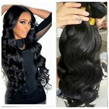 100%  Weft Hair Virgin Brazilian Remy Human Hair Weave Extensions 100g  Bundle