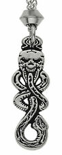 Handmade The Dark Mark Skull and Snake Serpent Pewter Chain Pendant