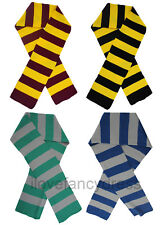 STRIPED SCARF SCHOOLBOY FANCY DRESS COSTUME ACCESSORY QUALITY SOFT KNITTED