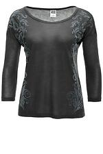 Vero Moda Damen Shirt Corra 3/4 Top Women Asphalt 34 36 38 40 42 - 45% WOW