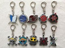 3-layer rotation keychain of Anime Black Butler/Fairy Tail/One piece/Naruto ETC