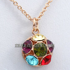 A1-P438 Fashion Rhinestone Topaz CZ Necklace Pendant 18KGP Crystal