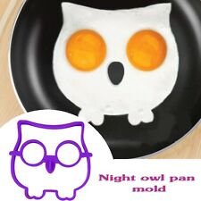 Egg Fried Mold Ring Mould Side Up Owl/Skull Breakfast Pancake Silicone