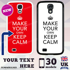 PERSONALISED KEEP CALM WITH YOUR TEXT Phone Case Case Cover Gift
