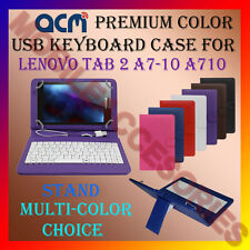 """ACM-USB COLOR KEYBOARD 7"""" CASE for LENOVO TAB 2 A7-10 TAB LEATHER COVER STAND"""