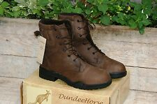 BOTTINES - BOOTS EQUITATION RANDONNEE CHASSE CUIR BRUN 152012