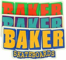 BAKER SKATEBOARDS SKATE STICKERS BRAND LOGO COLOURED GREEN REYNOLDS HERMAN RAD
