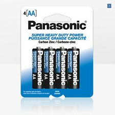 New Two Pack of 4 AA Genuine Panasonic Super Heavy Duty Carbon Zinc Batteries