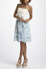 Anthropologie Stitched Cornflower Mesh Dress Org.$168.00 New With Tag! (FL)
