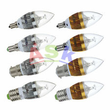 10xB22 E27 E14 E12 Dimmable 3W 6W 9W High Power LED Chandelier Candle Light Bulb