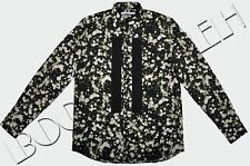 GIVENCHY Authentic Black Button Down Floral Pattern Print Runway Shirt SS2015
