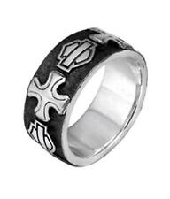 HDR0349 - Harley-Davidson® Mens .925 Silver B&S Cross Band Ring by Mod Jewelry®