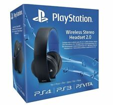 Ufficiale Sony PlayStation ORO PS4 PS3 PS VITA Wireless Stereo Headset 2.0 * NUOVA *