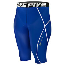 New 082 Take Five Mens Compression Base Layer Blue Running Short Pants