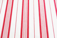 Good quality ticking fabric, striped, cairo red/white, by the meter