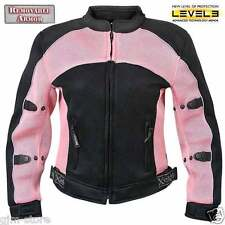 Xelement CF508 Womens Pink Black Lightweight Sports Armored Motorcycle Jacket