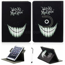 We're All Mad Universal Adjustable Folio Leather Case Cover For 7 Inch Tablet PC