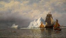 "William Bradford : ""Whaler and Fishing Vessels"" (c1880) — Giclee Fine Art Print"
