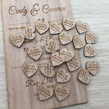Personalised Timber Love Heart Wedding Decorations Bonbonnieres