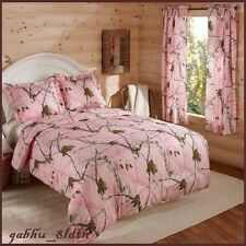 Camo Bedding Set Comforter Camouflage Sham Bed In Bag Pink Twin, Full, Queen