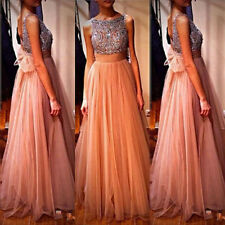 Sequins Long Bridesmaid Formal Gown Ball Party Cocktail Evening Prom Maxi Dress