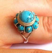 Turquoise Ring, Sterling Silver Ring, Silver Turquoise Ring, Turquoise Jewelry