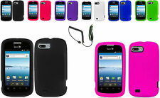Charger+Solid Skin Silicone Case Cover For ZTE Fury N850 / Director N850L Phone