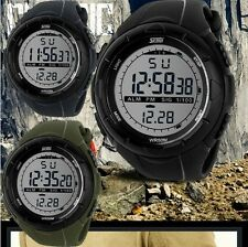 Simple army Infantry Military Sports Outdoor Rubber Band Men's boy Quartz Watch